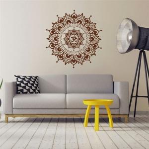 "Lipdukas ""Rudoji mandala"" (57 x 57 cm)"