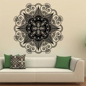 """Lipdukas """"Nuostabi juodoji mandala"""" (57 x 57 cm)"""