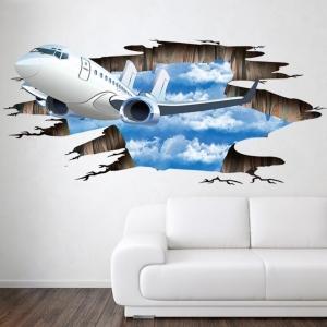 """3D lipdukas """"Atskrenda lėktuvas"""" (60 x 90 cm)"""