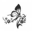 """Veidrodinis lipdukas """"Juodasis drugelis"""" (53 x 50 cm)"""