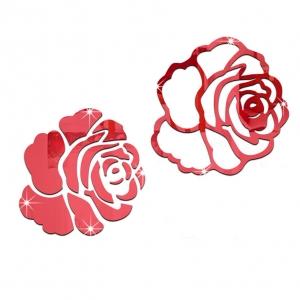"""Veidrodinis lipdukas """"2 raudonos rožės"""" (30 x 30 cm)"""
