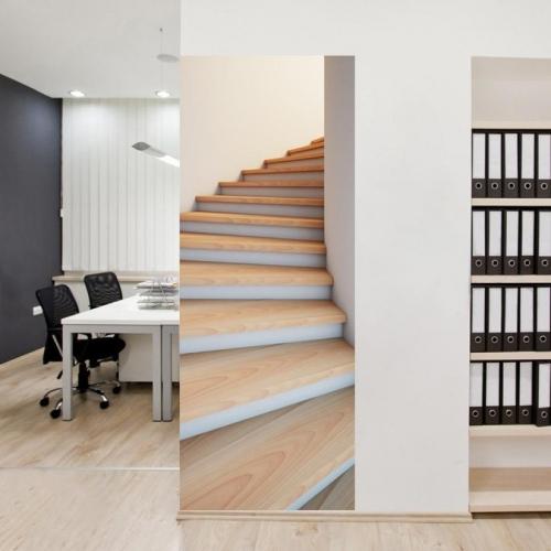"""3D lipdukas """"Laiptai į kitą dimenciją"""" (77 x 200 cm)"""