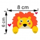 """Lipdukas """"Liūtukas"""" (4 x 8 cm)"""