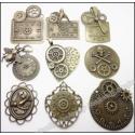 """Dekoratyviniai puošybos elementai """"Bronzinės grožybės"""" (18 vnt.)"""