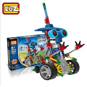 """Elektronis robotas - surenkamas vaikiškas konstruktorius """"Robotų pasaulis"""" (vaiko lavinimas, lengvai surenkamas)"""