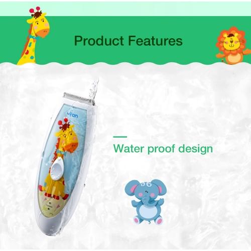 """Profesionali elektroninė plaukų kirpimo mašinėlė """"Linksmasis žirafiukas"""" (6 pozicinų, nepralaidi vandeniui, 60 min)"""