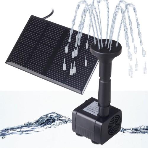 Fontano siurblys maitinamas saulės baterija